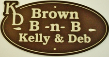 Acrylic Laminated Sign Bed & Breakfast Building Sign Plaque Full Size Choose Your Text  Brown tan brown  Made in USA