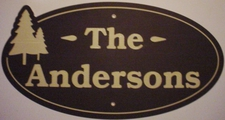 Name Sign Trees Anderson Choose Your Text Laminated Brown Tan Brown Acrylic Sign Full Size Made in USA