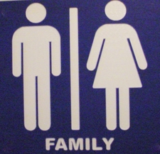 Ladies Men Restroom Family Bathroom Choose Your Text  Acrylic Sign Plaque Full Size Made in USA