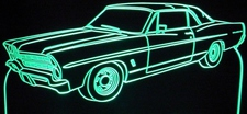 1967 Ford Galaxie Acrylic Lighted Edge Lit LED Car Sign / Light Up Plaque