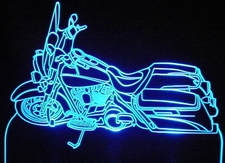 2008 Road King Motorcycle Acrylic Lighted Edge Lit LED Bike Sign / Light Up Plaque