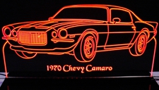 1970 Camaro Split Bumper Acrylic Lighted Edge Lit LED Sign / Light Up Plaque Full Size USA Original