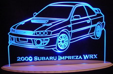 2000 Subaru Impreza WRX Acrylic Lighted Edge Lit LED Sign / Light Up Plaque Full Size USA Original