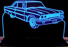 1963 1/2 Ford Galaxie Acrylic Lighted Edge Lit LED Car Sign / Light Up Plaque
