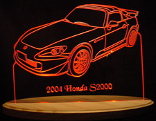 2004 Honda S2000 Acrylic Lighted Edge Lit LED Sign / Light Up Plaque Full Size USA Original