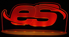 ES Advertising Business Logo Acrylic Lighted Edge Lit LED Sign / Light Up Plaque