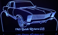 1965 Buick Riviera GS Acrylic Lighted Edge Lit LED Car Sign / Light Up Plaque