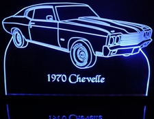 1970 Chevelle Acrylic Lighted Edge Lit LED Sign / Light Up Plaque Full Size USA Original