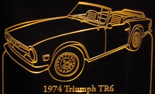 1974 Triumph TR7 Acrylic Lighted Edge Lit LED Sign / Light Up Plaque Full Size USA Original