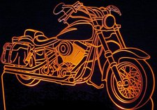1985 FX Wide Glide Acrylic Lighted Edge Lit LED Sign / Light Up Plaque Full Size Made in USA