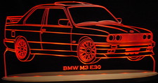 BMW M3 E30 Acrylic Lighted Edge Lit LED Sign / Light Up Plaque Full Size USA Original