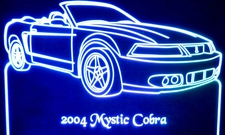 2004 Mystic Cobra Acrylic Lighted Edge Lit LED Car Sign / Light Up Plaque