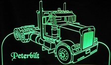 Semi Truck Pblt Acrylic Lighted Edge Lit LED Sign / Light Up Plaque Full Size USA Original