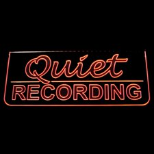 Recording Quiet Music Studio Courthouse Ceiling Mount Acrylic Lighted Edge Lit LED Sign / Light Up Plaque Full Size Made in USA