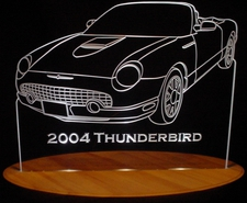 2004 Ford Tbird Convertible Acrylic Lighted Edge Lit LED Car Sign / Light Up Plaque Thunderbird