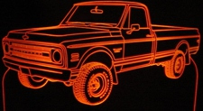 1970 Chevy Pickup 4x4 Acrylic Lighted Edge Lit LED Sign / Light Up Plaque Full Size Made in USA