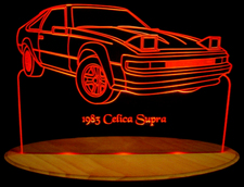 1983 Toyota Supra Acrylic Lighted Edge Lit LED Car Sign / Light Up Plaque