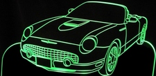 2002 Ford Tbird Convertible Acrylic Lighted Edge Lit LED Sign / Light Up Plaque Thunderbird Full Size Made in USA