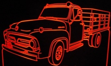 1953 Ford Truck Acrylic Lighted Edge Lit LED Sign / Light Up Plaque Full Size Made in USA