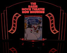 Theater Sign Movie DVD Holder Movie not included Acrylic Lighted Edge Lit LED Sign / Light Up Plaque Full Size Made in USA