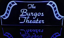 Theater Sign Movie Film Strips Acrylic Lighted Edge Lit LED Sign / Light Up Plaque Full Size Made in USA