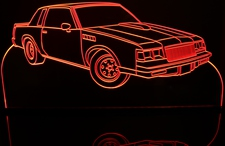 1986 Buick Grand National Acrylic Lighted Edge Lit LED Sign / Light Up Plaque Full Size Made in USA