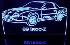 1989 Camaro IROC-Z Acrylic Lighted Edge Lit LED Sign / Light Up Plaque Full Size Made in USA