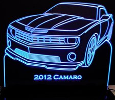 2012 Camaro Acrylic Lighted Edge Lit LED Sign / Light Up Plaque Full Size Made in USA