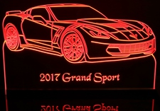 2017 Corvette Grand Sport Acrylic Lighted Edge Lit LED Sign / Light Up Plaque Full Size Made in USA