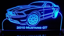 2010 Mustang GT Acrylic Lighted Edge Lit LED Sign / Light Up Plaque Full Size Made in USA