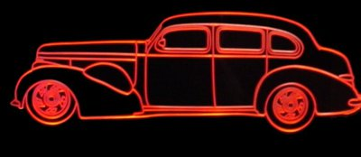1937 Buick Acrylic Lighted Edge Lit LED Sign / Light Up Plaque Full Size Made in USA