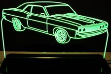 1969 Torino Acrylic Lighted Edge Lit LED Sign / Light Up Plaque Full Size Made in USA