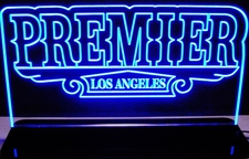 Premier Business Sign Acrylic Lighted Edge Lit LED Sign / Light Up Plaque Full Size Made in USA
