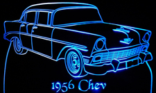 1956 Chevrolet / Chevy Shoebox Acrylic Lighted Edge Lit LED Sign / Light Up Plaque