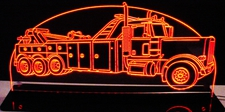 Wrecker Rototor Tow Truck Towing Acrylic Lighted Edge Lit LED Sign / Light Up Plaque Full Size Made in USA