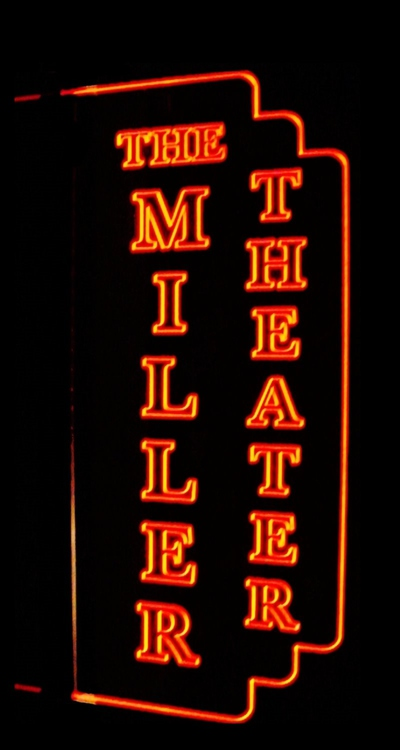 Theater Home Miller sample Acrylic Lighted Edge Lit LED Sign / Light Up Plaque Full Size Made in USA
