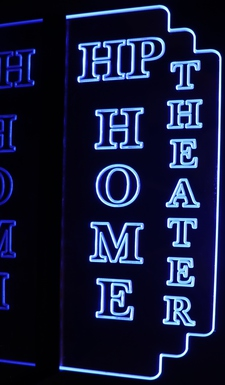 Home Theater Box Office Acrylic Lighted Edge Lit LED Sign / Light Up Plaque Full Size Made in USA
