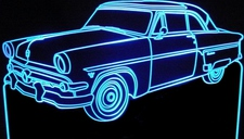 1954 Skyliner Acrylic Lighted Edge Lit LED Car Sign / Light Up Plaque