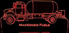 Semi Truck Propane Gas Hauler Tanker (add your own text) Acrylic Lighted Edge Lit LED Sign / Light Up Plaque Full Size Made in USA