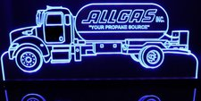 Propane Gas Truck (add your text) Acrylic Lighted Edge Lit LED Sign / Light Up Plaque Full Size Made in USA