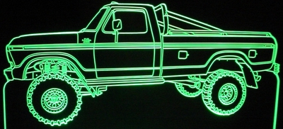 1978 Ford Pickup Acrylic Lighted Edge Lit LED Truck Sign / Light Up Plaque