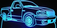 2000 Ford Lightning Acrylic Lighted Edge Lit LED Sign / Light Up Plaque