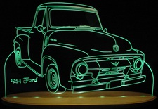 1954 Ford Pickup Acrylic Lighted Edge Lit LED Truck Sign / Light Up Plaque