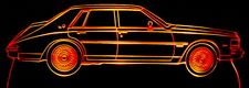 1983 Cadillac Seville Acrylic Lighted Edge Lit LED Car Sign / Light Up Plaque