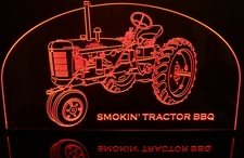 Tractor Farmall Acrylic Lighted Edge Lit LED Sign / Light Up Plaque Full Size Made in USA