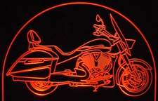 2011 Victory Crossroads Motorcycle Acrylic Lighted Edge Lit LED Car Sign / Light Up Plaque