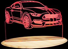 2016 Mustang GT 350 Acrylic Lighted Edge Lit LED Sign / Light Up Plaque Full Size Made in USA