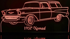 1957 Nomad Acrylic Lighted Edge Lit LED Sign / Light Up Plaque Full Size Made in USA