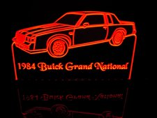 1964 Buick Grand National Acrylic Lighted Edge Lit LED Sign / Light Up Plaque Full Size Made in USA