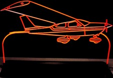 Airplane Plane Acrylic Lighted Edge Lit LED Sign / Light Up Plaque Full Size Made in USA